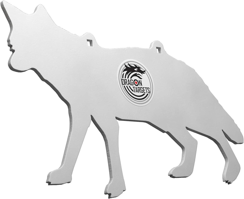"Target 8/""x12/"" x 3//8/"" con 4/"" Center AR500 acciaio Silhouette Bullseye reattivo"