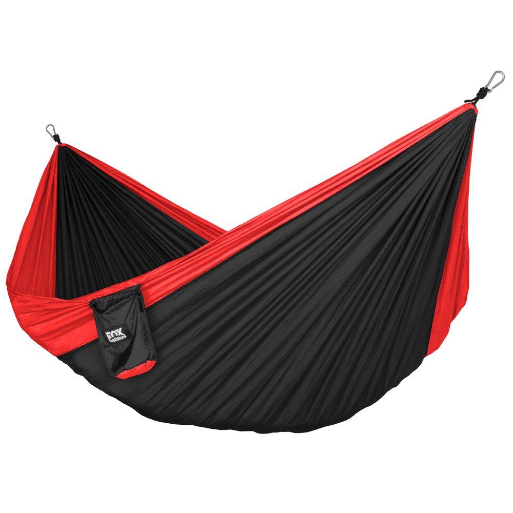 ネオライト トレック キャンピング ハンモックー軽量ポータブル ナイロン パラシュート ハンモック B00XOO86KK Red/Black Red/Black