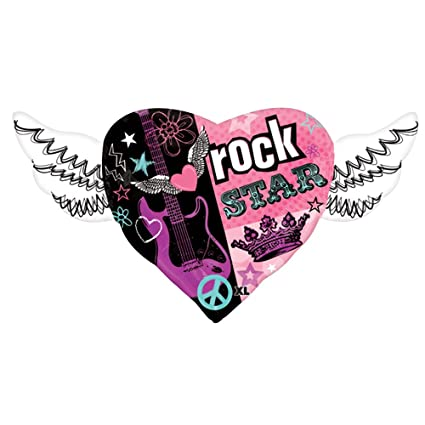 Amazon.com: 11 pc Rock Star Princess Happy Birthday Balloon Bouquet Heart Wings Crown Dots: Toys & Games