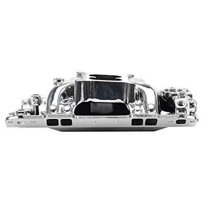 Edelbrock 75014 EnduraShine Performer RPM Air-Gap Intake Manifold: Automotive