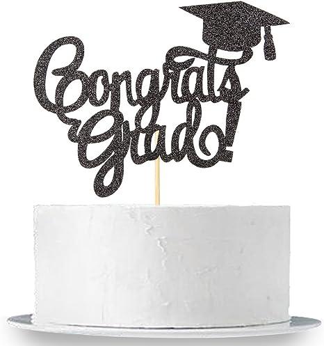 INNORU # Done Banner 2019 Graduate Party Decorations Supplies Black Glitter Congrats Grad Sign