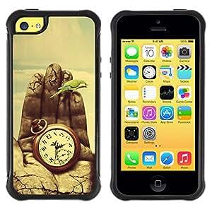 "Pulsar iFace Series Tpu silicona Carcasa Funda Case para Apple iPhone 5C , Pintura Tiempo Significado Profundo Naturaleza Vignette"""
