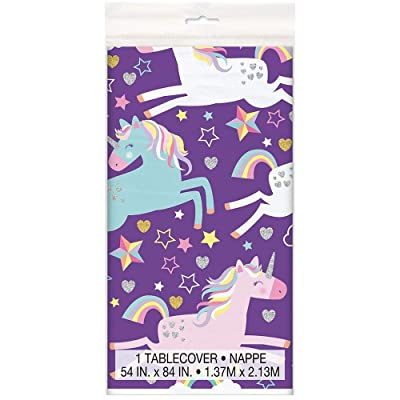 "Unicorn Plastic Party Table Cover 54"" X 84"", 1 Ct.: Toys & Games"