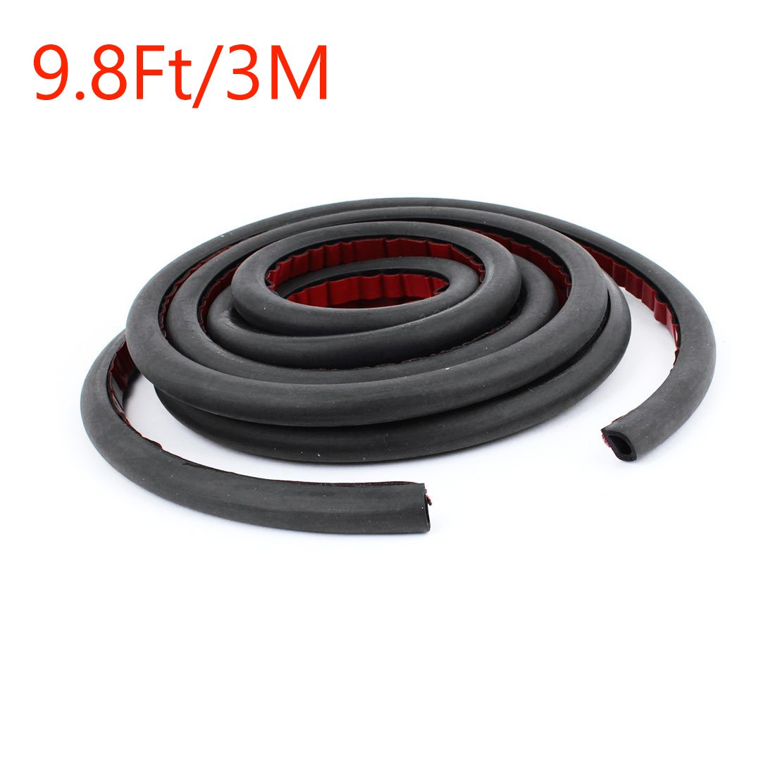 Sydien 9.8Ft/3M D-Shape Car Door Seal Strip Truck Motor Door Rubber Seal Strip Decorate Weatherstrip Hollow Black