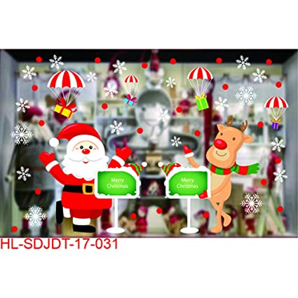 christmas diy wall decals wall stickers party decorations kids rooms nursery rooms window shop christmas decoration - Christmas Window Decorations Amazon