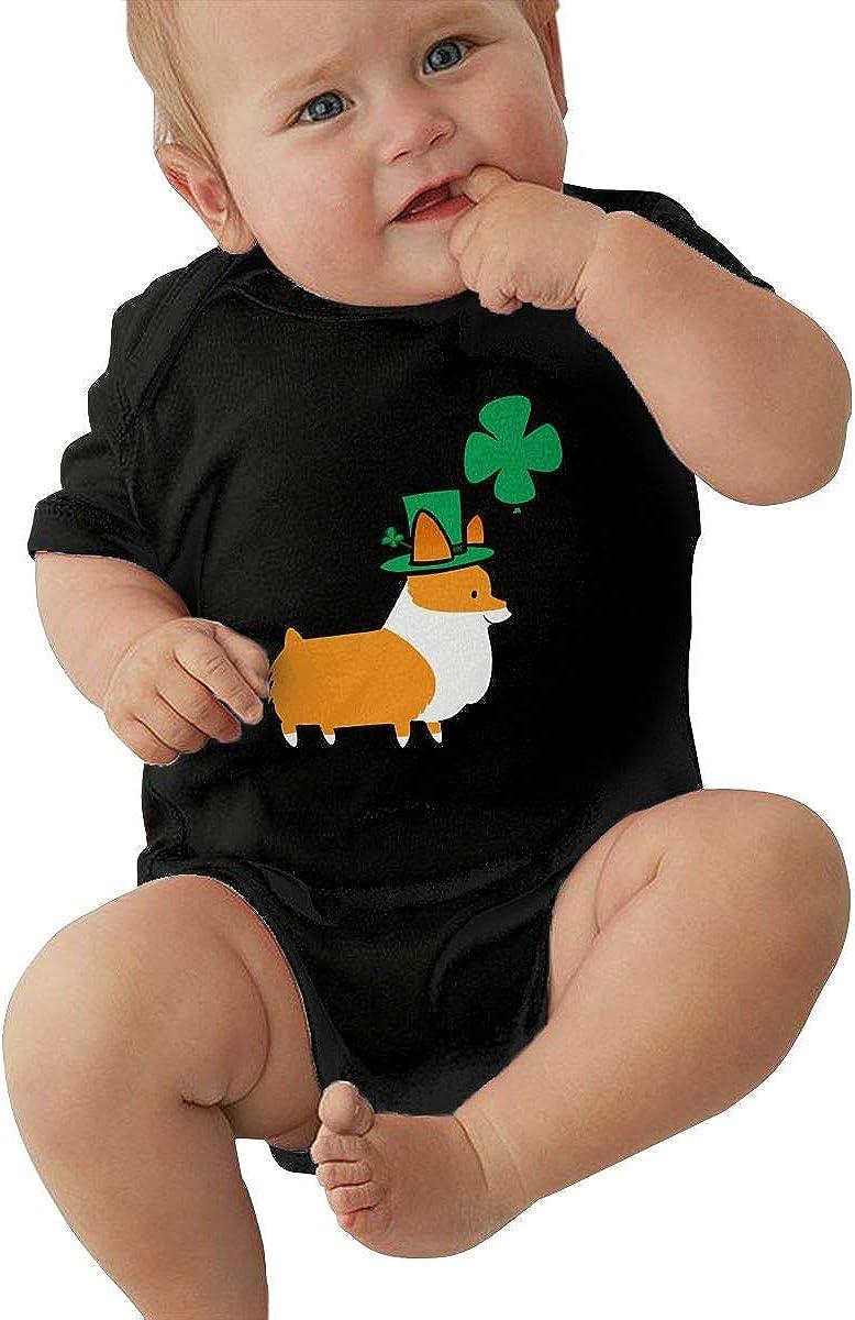 Mark Stars Pembroke Welsh Corgi Newborn Girls Boy Kids Baby Romper Short Sleeve Infant Toddler Jumpsuit