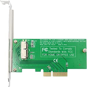 GODSHARK PCIe SSD Adapter Card for 2013 2014 2015 2016 2017 MacBook Air Pro Retina, Hard Drive Controller Converter to Desktop PCI Express X4, Support Model A1465 A1466 A1398 A1502