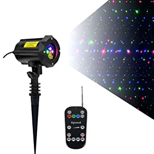 Outdoor Garden Laser Lights Christmas Projector with Security Lock Remote Control 3 Color Red Green Blue