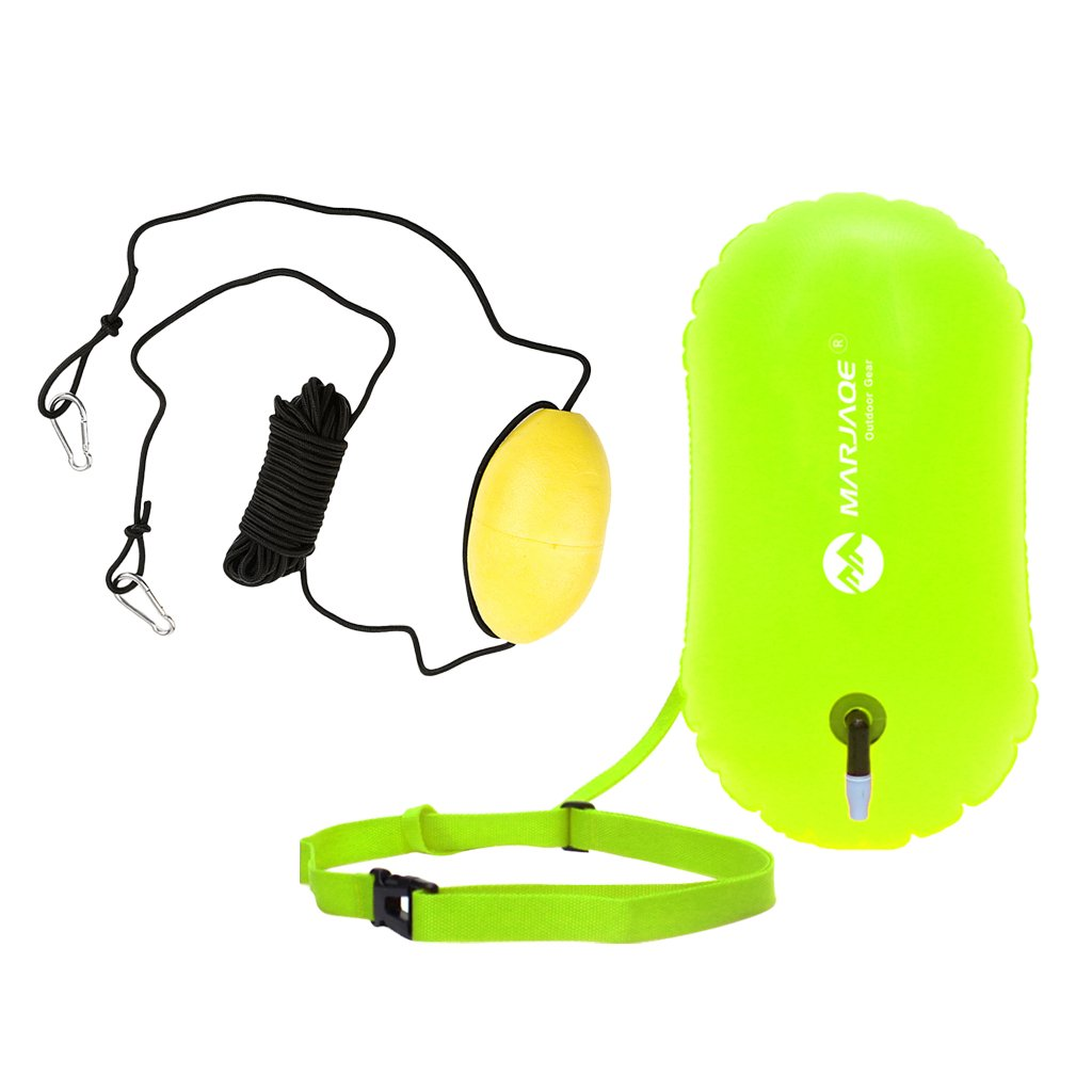 Baosity High Visibility Open Water Swim Buoy Safety Bag Kayak Anchor Tow Rope Line