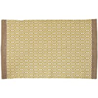 Ink+Ivy II72-657 Charlie Woven Cotton Rug, 20 x 30, Yellow