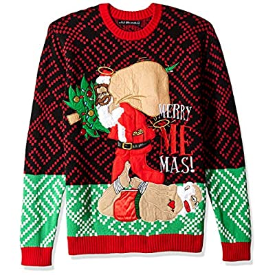 Blizzard Bay Men's Ugly Christmas Sweater Santa, Red/Green, XX-Large at  Men's Clothing store