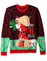Blizzard Bay Mens Merry Me-mas Ugly Christmas Sweater Sweater