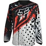 MS メンズ オートバイTシャツ オフロードジャージ 春 夏 秋 長袖 吸汗 速乾 バイク用品 モトクロス レジャーウェア ブラック