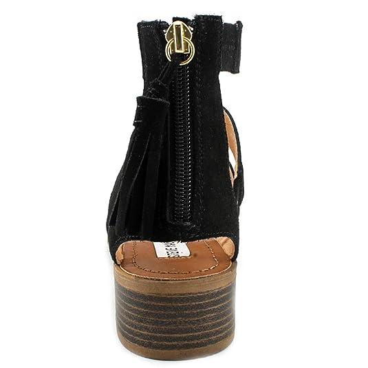 41cdaf22148d Steve Madden Daviss Women US 8.5 Black Gladiator Sandal  Amazon.ca  Shoes    Handbags