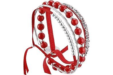 Les Interchangeables Set de Bracelets, 4 pcs. Strass Box.mét