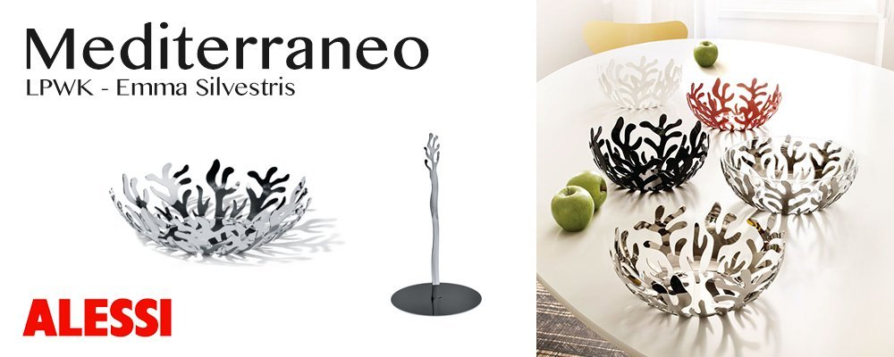 Alessi Mediterraneo 11-1/2-Inch Fruit Holder, Stainless Steel by Alessi