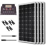 Renogy 400 Watt 12 Volt Monocrystalline Solar Bundle Kit with 30A PWM Controller - LCD Display