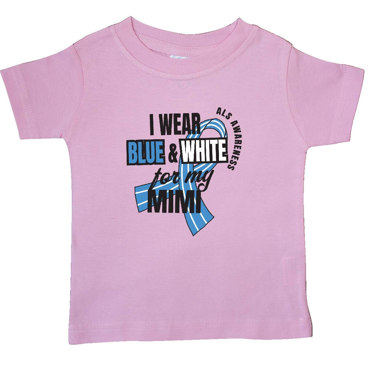 inktastic I Wear Blue and White for My Mimi ALS Awareness Baby T-Shirt
