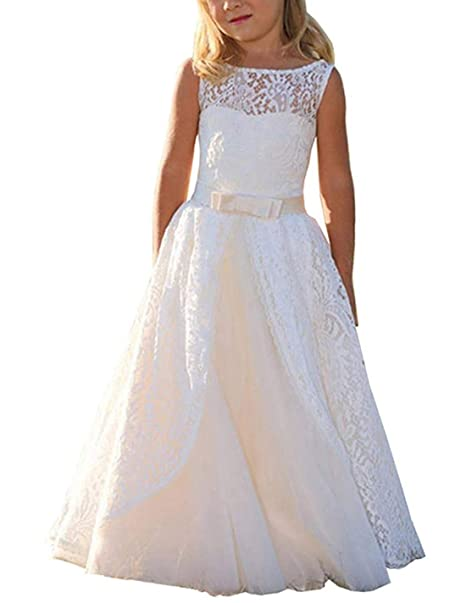 fd45cc7fa Magicdress Boho Flower Girl Dress White Long Lace Dresses Communion Ball  Gown: Amazon.ca: Clothing & Accessories