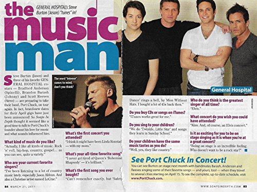 Steve Burton (Jason, General Hospital) 2011 Soap Opera Feature Interview [2 Pages]