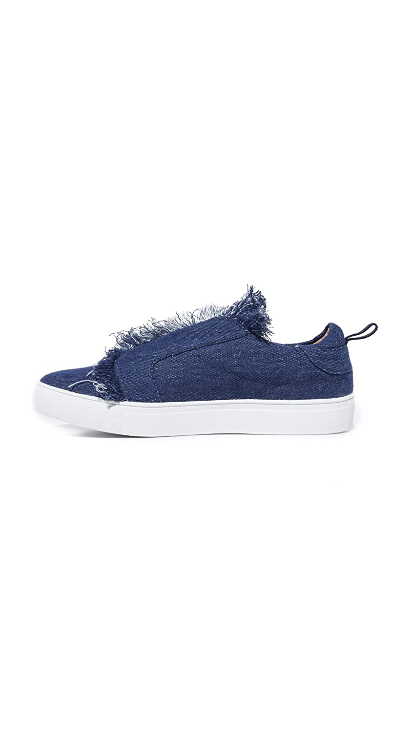 Jaggar Womens Fray Fabric Low Top Slip On Fashion Sneakers