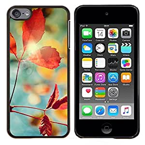 LECELL--Funda protectora / Cubierta / Piel For Apple iPod Touch 6 6th Touch6 -- Planta Naturaleza Forrest Flor 1 --
