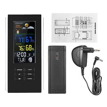 Vosarea Termómetro de casa, Digital, Interior, Exterior, termómetro inalámbrico para la Oficina, Garaje, Invernadero (Negro): Amazon.es: Electrónica