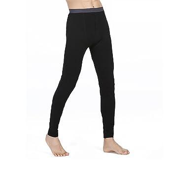 HMILYDYK Mens caliente invierno térmica ropa interior suave algodón Base capa pantalones Bottoms Pantalones para viajes