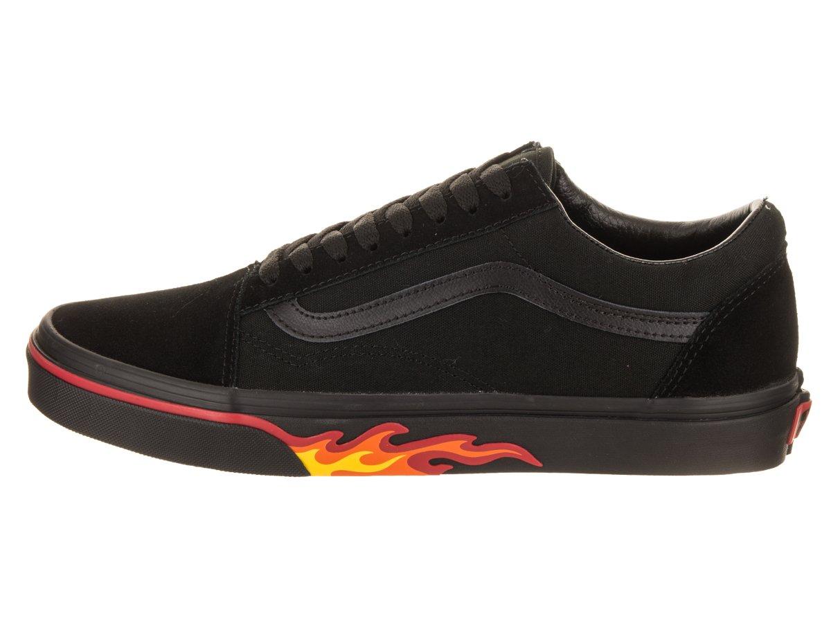 Vans Old Skool Unisex Adults' Low-Top Trainers B076CS3Z9F 9 D(M) US / 10.5 B(M) US|(Flame Wall) Black