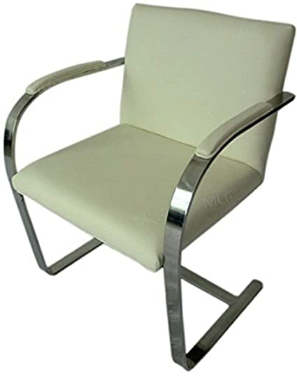 MLF Brno Flat Chair (6 Colors). Beige Italian Leather. Fire Retardant U0026