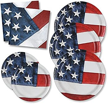 50Pk. Patriotic Dinner Plates and 100 Napkins