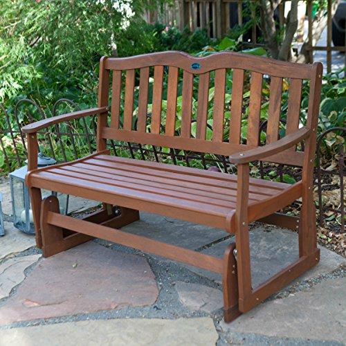 Outdoor Patio Gliders Bench Rocker Loveseat Porch Swing Wooden Glider 4 Ft What 39 S It Worth