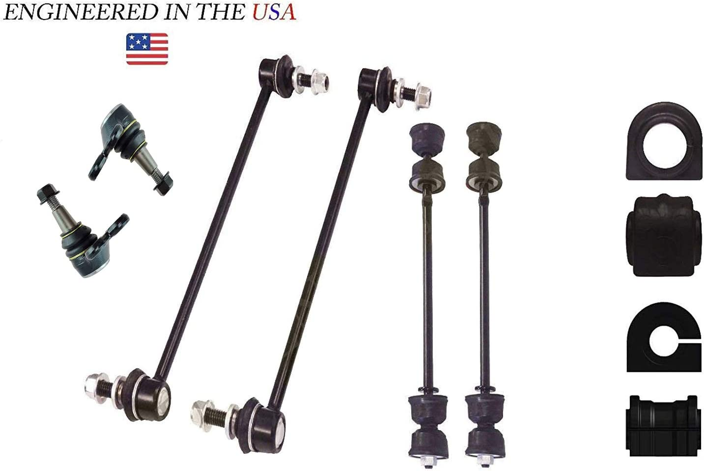 2 FRONT SWAY BAR LINK KIT FORD EDGE LINCOLN MKX K750159