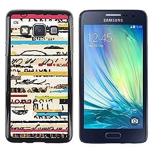 Texto de conciertos de Viaje Ticket frescos Líneas - Metal de aluminio y de plástico duro Caja del teléfono - Negro - Samsung Galaxy A3