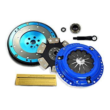 EFT etapa 4 Kit de embrague y volante de aluminio 6061 89 - 91 - Honda Civic CRX D15 D16: Amazon.es: Coche y moto
