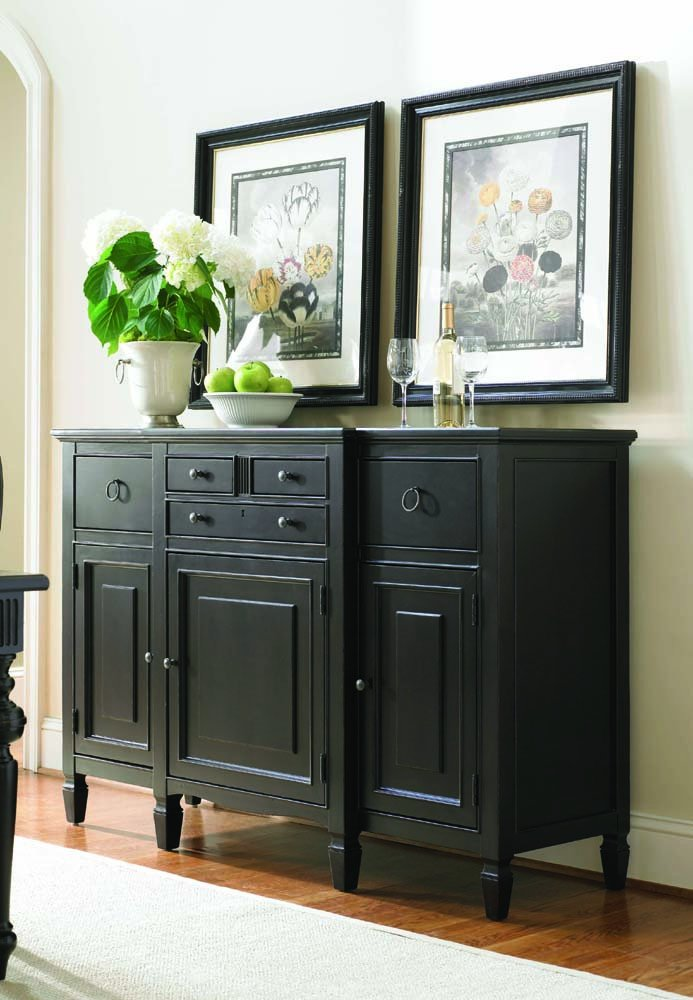 Amazon.com   Universal Furniture Summer Hill Serving Buffet In Midnight    Buffets U0026 Sideboards