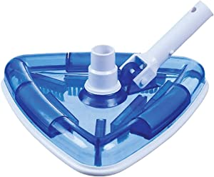 Lalapool Triangle Pool Vacuum Head,Premium Flexible Swimming Pool Vacuum Fits Most Standard-Sized Extension Poles, Weighted Attachment for Concrete or Plaster Pool Cleaning
