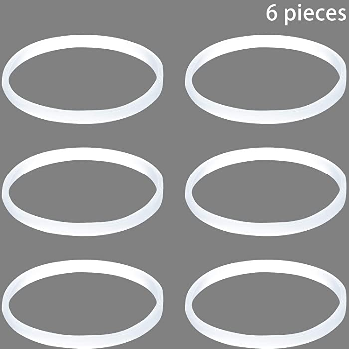 6 Pieces Gasket Replacement for Nutri Ninja White Rubber Gasket Seal O-ring Gasket Replacement Part, 3.94 Inch in Diameter,The thickness is 0.11 Inch/0.3cm