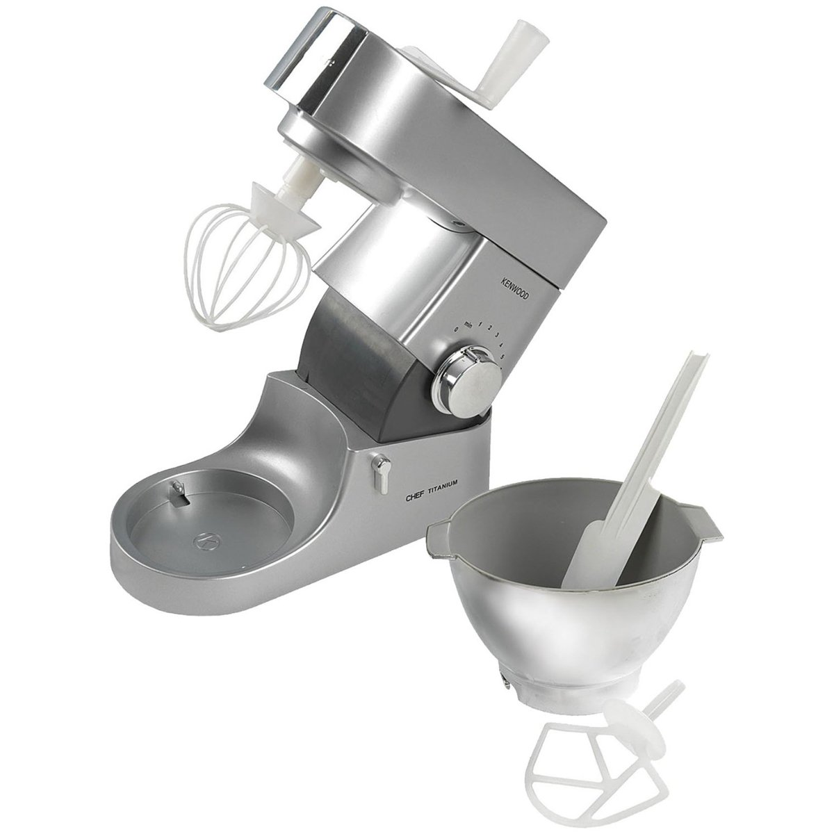 Casdon Little Cook 63502 Casdon Kenwood Toy Mixer, Silver/Chrome Effect