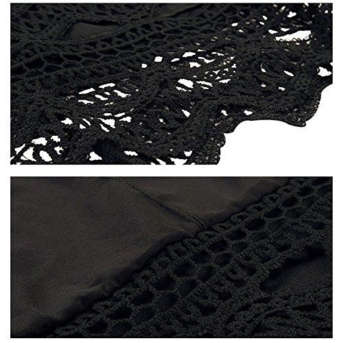 Dress Vintage Black Party Con DISSA Body Women Sleeveless Cocktail Summer Midi HAA0005 w0nqBEPv