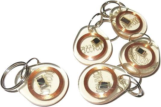RFID Tag 100pcs 125KHz ID EM Proximity Induction Keyfobs For Door Access control