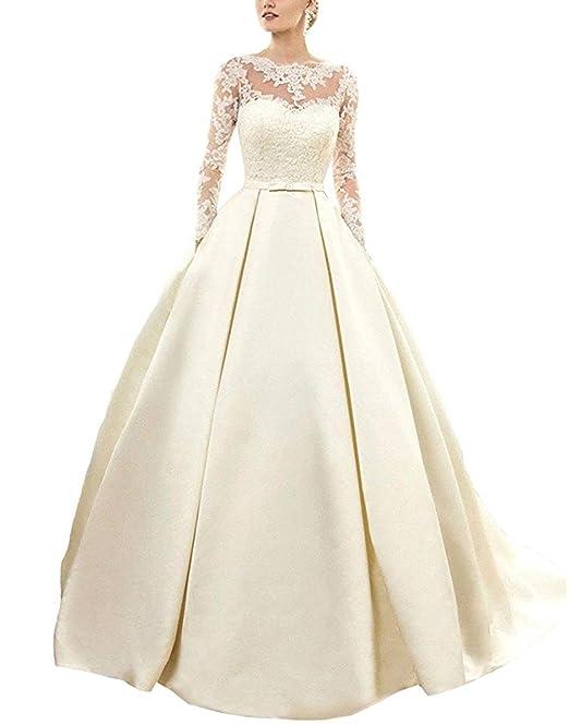 Bridal_Mall - Vestido de novia - manga larga - Mujer Weiß 46