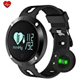 FATMOON UPGRADE Fitness Tracker, Activity Monitor Sleeping Heart Rate monitor Blood pressure Tracker Pedometer Smart Bracelet with IP67 Waterproof OLED Touch Screen for Android and iOS