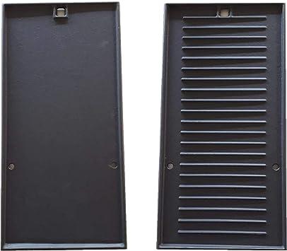 CAMPINGAZ - Placa de Hierro Fundido Reversible (Lisa/Rayada) para Barbacoa 3 Series LS - Dimensiones: 22,5 x 45 cm