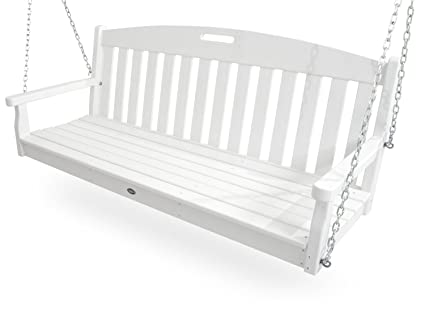 Trex Outdoor Furniture Yacht Club Swing, Classic White
