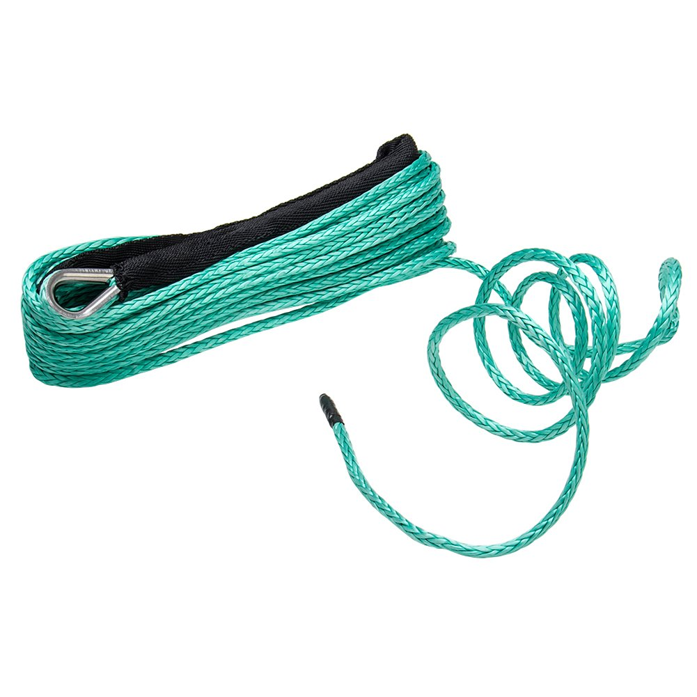 Synthetic Winch Rope, Big-Autoparts 1/4'' x 50' Line Cable 8200 LB Capacity for For Off Road Vehicle ATV UTV KFI Vehicle Car Motorcycle