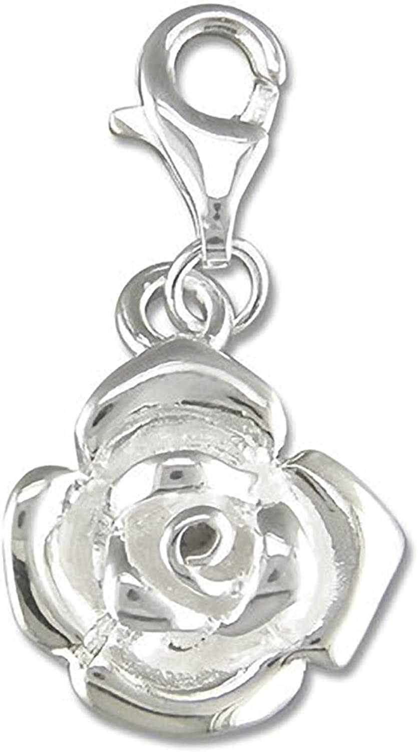 Angel Sterling Silver Clip-On Charm For Thomas Sabo Style Charm Bracelets