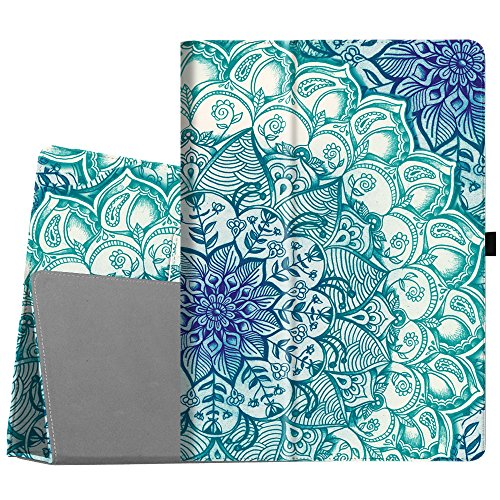 - Fintie iPad Pro 12.9 Case - [Corner Protection] Premium PU Leather Folio Smart Stand Cover with Auto Sleep/Wake, Multi-Angle Viewing for iPad Pro 12.9 2nd Gen 2017 / 1st Gen 2015, Emerald Illusions