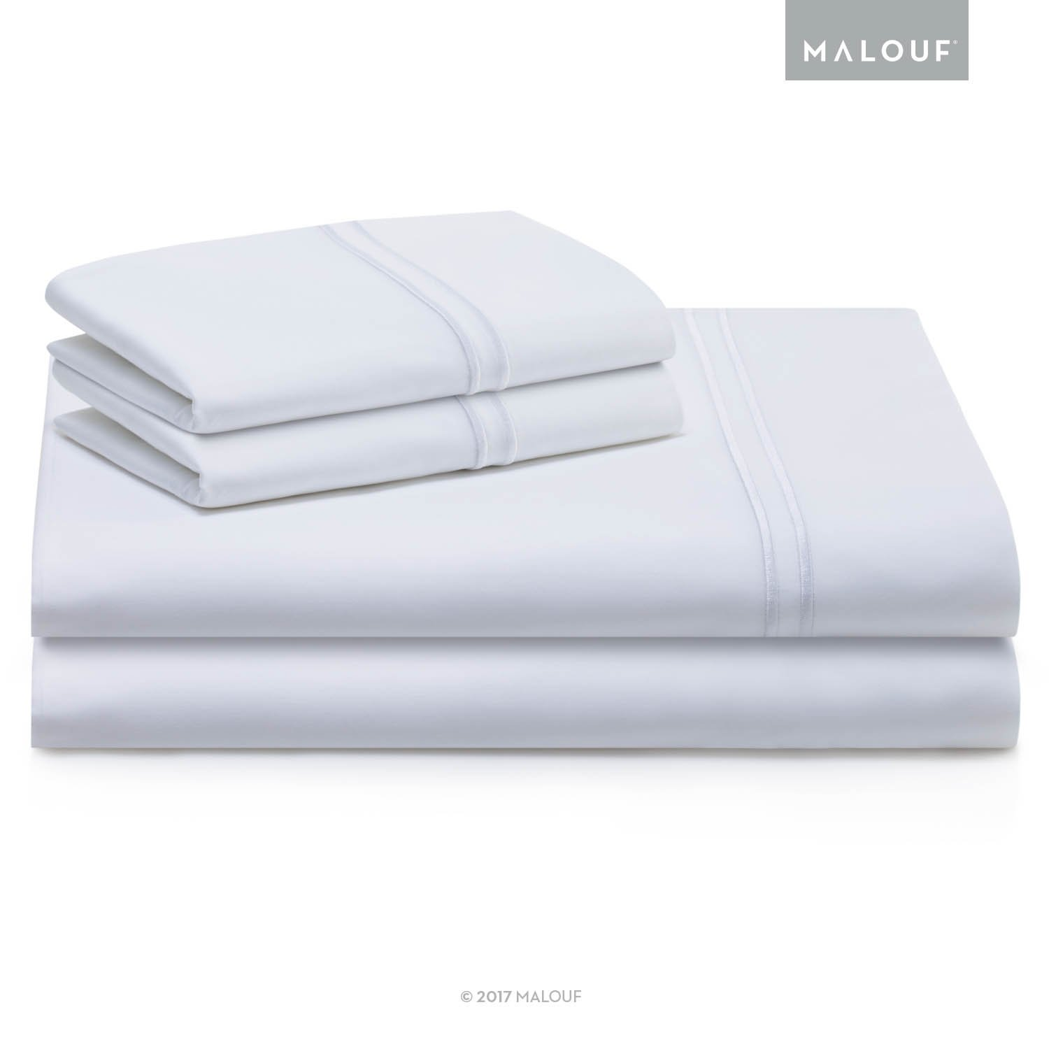 WOVEN SUPIMA Premium Cotton Sheets - 100 Percent American Grown - Extra Long Staple - Sateen Weave - Extra Deep Pockets - Single Ply - 600 Thread Count - Twin - White