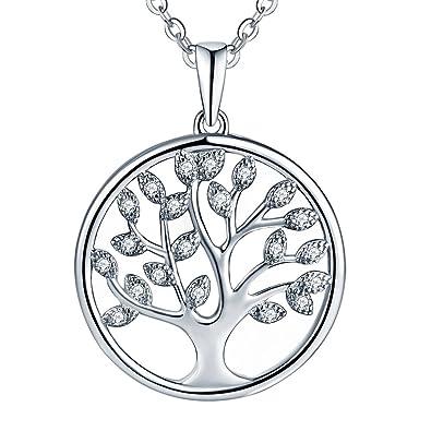 [Sponsored]Starchenie Womens 925 Sterling Silver Cubic Zirconia Tree of Life Pendant Necklace gyP56wyKVj